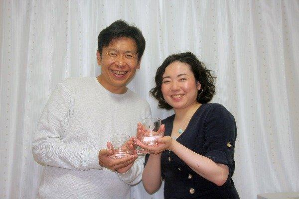 画像2: 彫刻体験 家紋をグラスに彫刻してご両親へのプレゼント