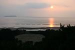琴弾山頂から望む夕日